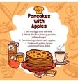 Sketch Of Apple Pancakes Recipe vector image