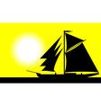 Black ship vector image