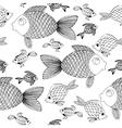 Hand drow Fish background