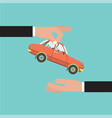 car for vehicle sales agreement vector image