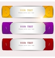 Colorful bookmarks set vector image