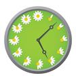 daisy clock vector image