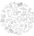 Doodle icons travel set vector image