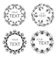 Floral wreath decorative round frame vector image
