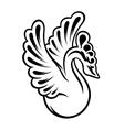 graceful swan vector image