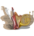 Instruments of orchestra vector image