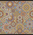 mandala seamless pattern indian decorative vector image