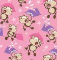 pillow fighting monkeys vector image