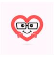 Smile heart shape and handshake logo vector image