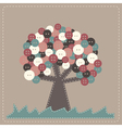 tree with buttons treetop vector image