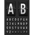 vector alphabet of mechanical vector image