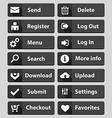 web design buttons black set vector image