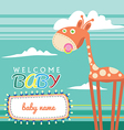 Welcome Baby Born Greeting Card Cute vector image