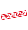 100 percent top secret rubber stamp vector image