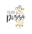 Set Of Ingredients Premium Quality Italian Pizza vector image