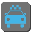 Taxi Automobile Rounded Square Button vector image