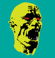 zombie screams head vector image