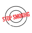 stop smoking rubber stamp vector image