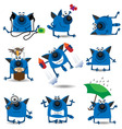 cartoon cats set vector image vector image