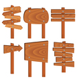 wooden signs vector image vector image