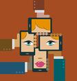 Hands Smart Phone vector image vector image