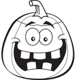 Cartoon Jack O Lantern vector image