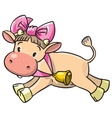 Baby cow vector image
