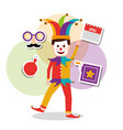 joker character mask box vector image