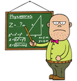 Maths teacher vector image