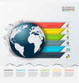 modern infographics global template vector image