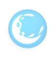round icon with splash of milk vector image