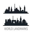 World landmarks isolated silhouettes for wallpaper vector image