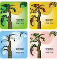 set of four seasons cards vector image vector image