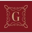 Monogram letter G Calligraphic ornament Gold vector image