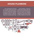 house plumbing information board vector image