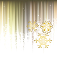 Winter background with snowflakes vector image vector image