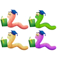 Worms reading vector image vector image