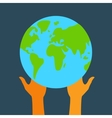 Stock globe and hands eps vector image