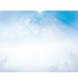 winter sky snow vector image vector image