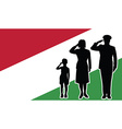 Hungary soldier family salute vector image