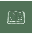 Music book icon drawn in chalk vector image vector image