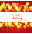 Happy Birthday and Party Balloon Invitation Card vector image