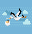 flying stork delivery vector image