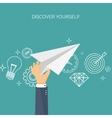 Paper plane Aims Smart vector image