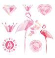 pink flamingo vector image