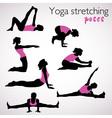 Beautiful set of yoga poses vector image