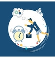 businessman wakes up in the morning alarm clock vector image