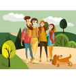 family travel concept vector image