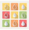 Flat drop set vector image