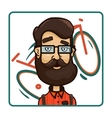 Hipster glasses on the background of a bicycle vector image